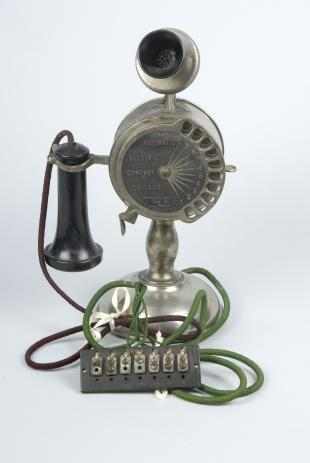 Strowger automatic electric dial telephone