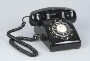 Western Electric rotary dial desk telephone