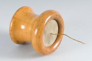 wooden telephone transmitter/receiver