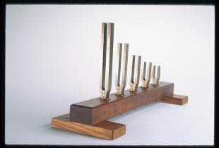 set of five vowel tuning forks
